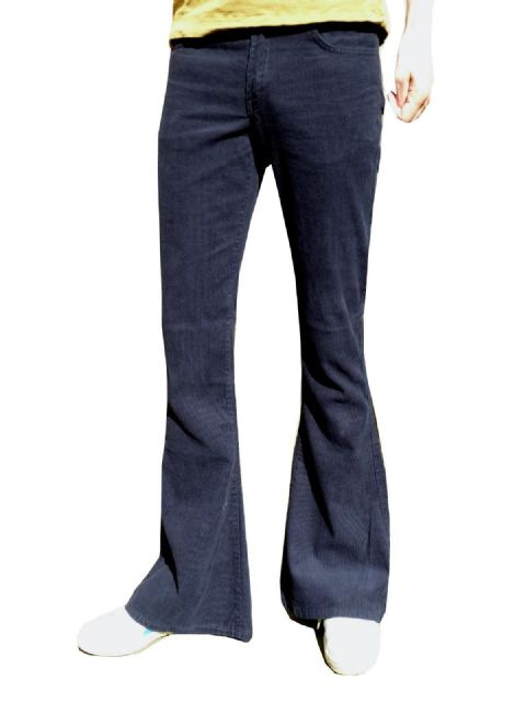 Classic Cords Flares - Corduroy Bell Bottoms - (Navy Blue)